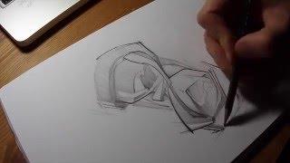 Hourglass Pencil Sketch