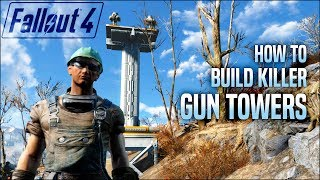 Killer Gun Towers for Your Settlements 🛡️ Fallout 4 No Mods Shop Class
