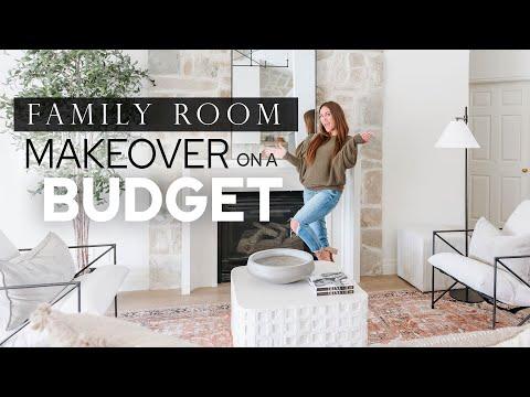 RH Inspired Room MAKEOVER on a BUDGET!! Mediterranean Modern Interior Design Style