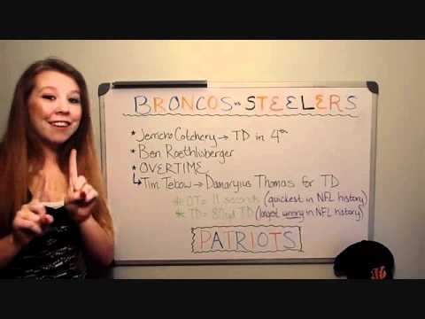 dumb blonde football- 2011-2012 NFL playoffs Broncos/Steelers Recap, Broncos/Patriots Picks