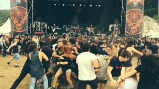 Slow Motion WALL OF DEATH at Resurrection Fest 2015 with In Mute