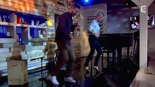 Matt Pokora danse avec Anne-Sophie Lapix - C à vous - 04/02/2015