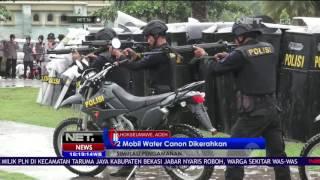 2 Mobil Water Canon Dikerahkan Saat Simulasi Pengamanan Gangguan Pilkada Aceh - NET 16