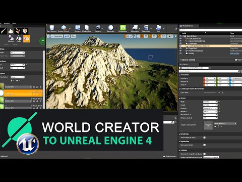 World Creator 2. Генерация текстур с помощью симуляции. Экспорт в Unreal Engine 4