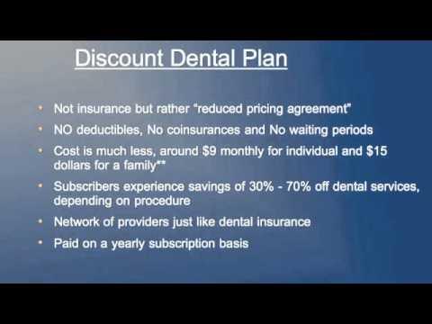 Dental Insurance vs Discount Dental Plan Dental Discount Insurance Plans