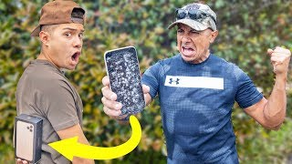 Destroying Dads Phone, Then Giving Him iPhone 11