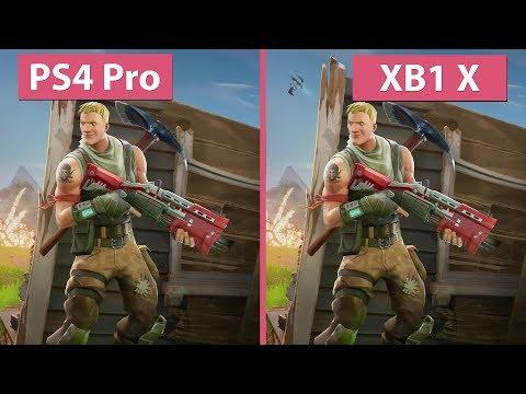 [4K] Fortnite Battle Royale – PS4 Pro vs. Xbox One X Graphics Comparison & Frame Rate Test