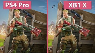 [4K] Fortnite Battle Royale – PS4 Pro vs. Xbox One X Graphics Comparison & Frame Rate Test
