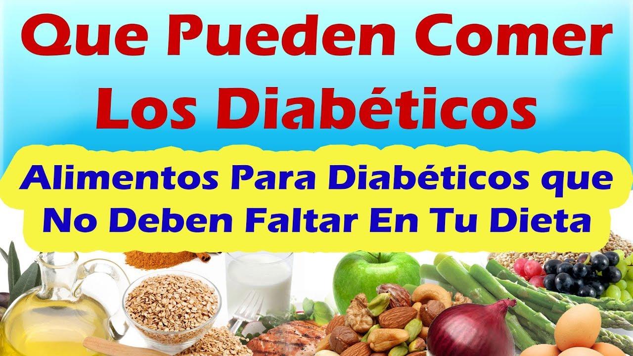 que es lo que deben comer los diabeticos