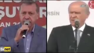 tayip erdoğan ve bahçeli ağır atışması