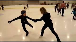 Юлия Липницкая тренирует детей