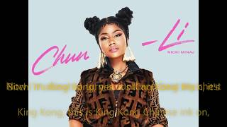 Nicki Minaj - Chun Li  (LYRICS)