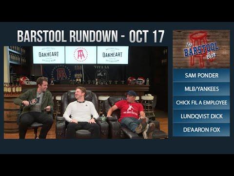 Barstool Rundown - October 17, 2017