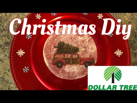 Dollar Tree Diy Christmas Chargers 2019