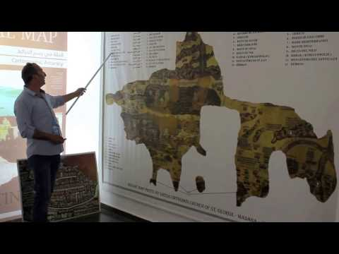 The explanation of the Madaba Map in Jordan (Part 1)