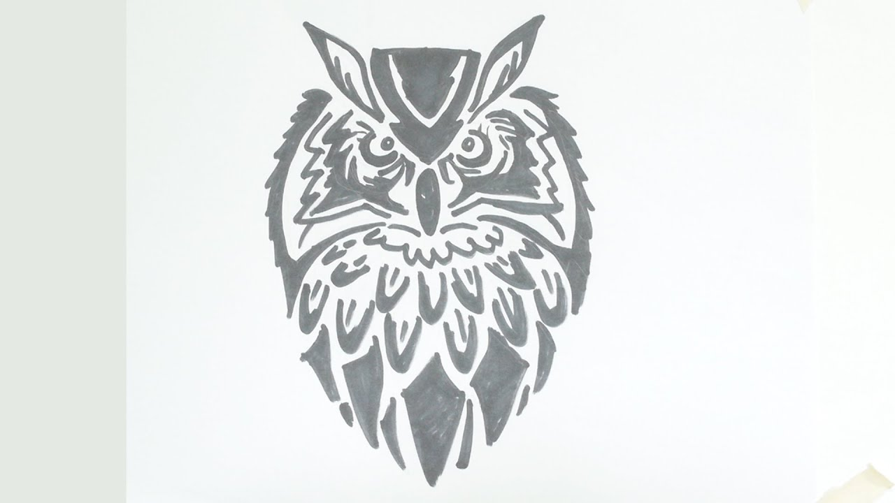 Drawings owl Tribal pictures images