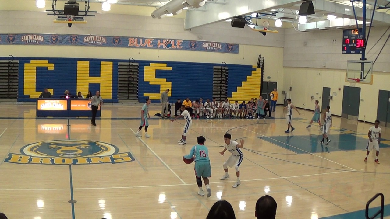 Hillsdale vs santa clara high school jv basketball dec 15 for Academy salon santa clara