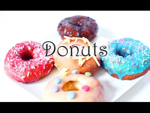 k chekreativ bunte donuts mit 5 glasuren ohne friteuse und im backofen selber machen youtube. Black Bedroom Furniture Sets. Home Design Ideas