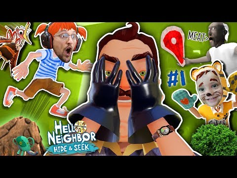HELLO NEIGHBOR HIDE N SEEK w/ His Kids!! + Granny's Meat Story! (FGTEEV Stage #1)