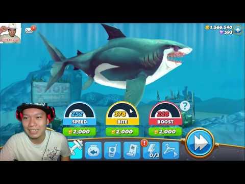 Hungry Shark World Ep 186 HD trò chơi cá mập ăn cá lớn nuốt cá bé HNT chơi game New 186