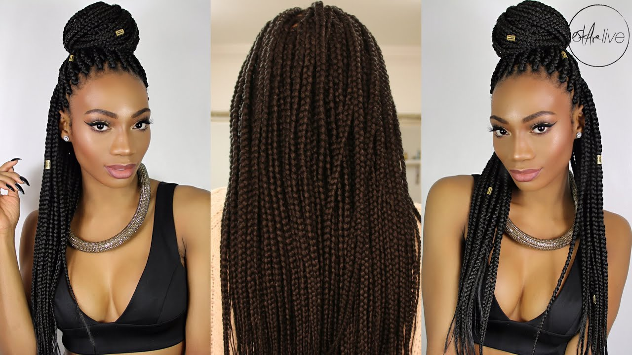 Hair I Get Box Braids Ebony B Salon Youtube