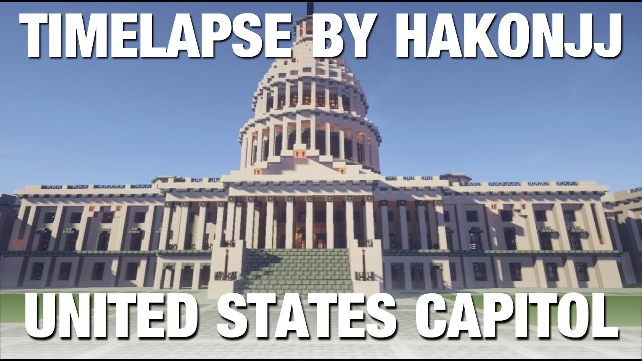 Minecraft Timelapse United States Capitol 1080p HD DOWNLOAD