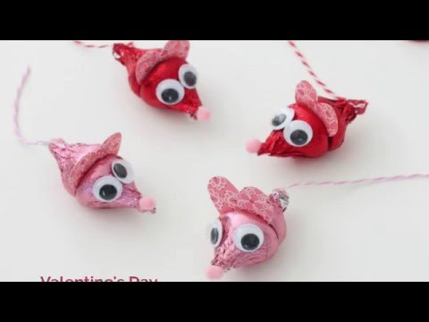 Valentineu0027s Day Craft: Hershey Kiss Mice   YouTube