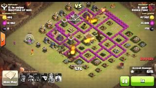Naga lv3 attack war bintang 3 clash of clans