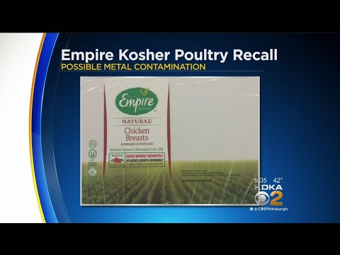 Raw Chicken Products Recalled Due To Possible Metal In Meat