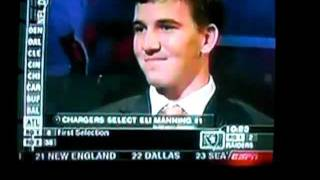 Eli Manning 2004 NFL Draft (Chargers)
