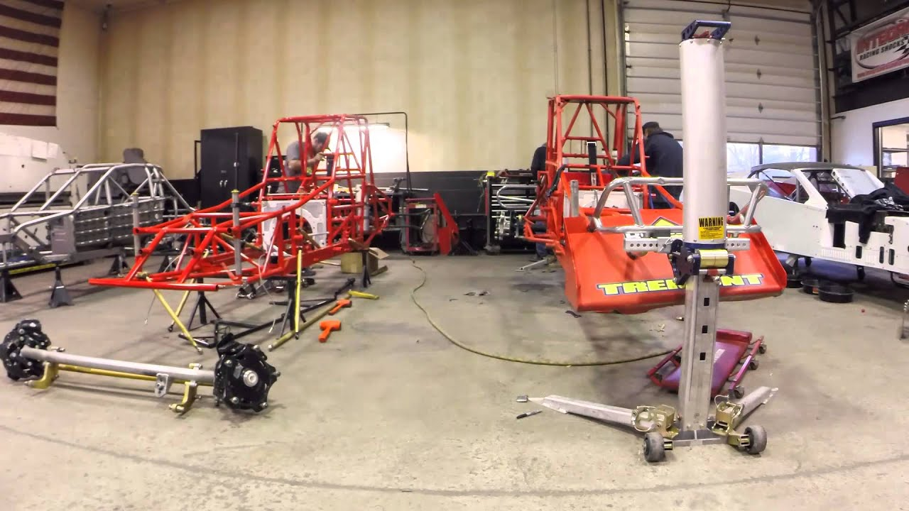 Troyer Race Cars: Kenny Tremont Jr. #115 Troyer TD2 Chassis Swap