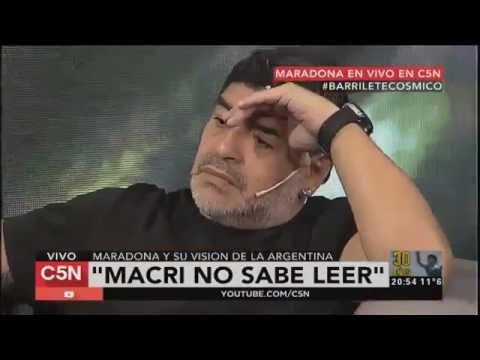 """Maradona dijo que """"Macri no sabe leer"""" y es Presidente de la Nacion - YouTube"""