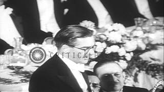 Former British Foreign Secretary Anthony Eden arrives in New York to attend the N...HD Stock Footage