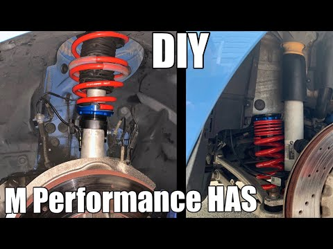 DIY install M Performance Height Adjustable Suspension (HAS) In an F80 BMW M3 (same as Dinan and KW)