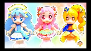 HUGっと!プリキュア 衣装を粘土で手作り❤キュアエール、キュアアンジュ、キュアエトワールのドレスをDIYして変身するよ⭐おもちゃ アニメ thumbnail