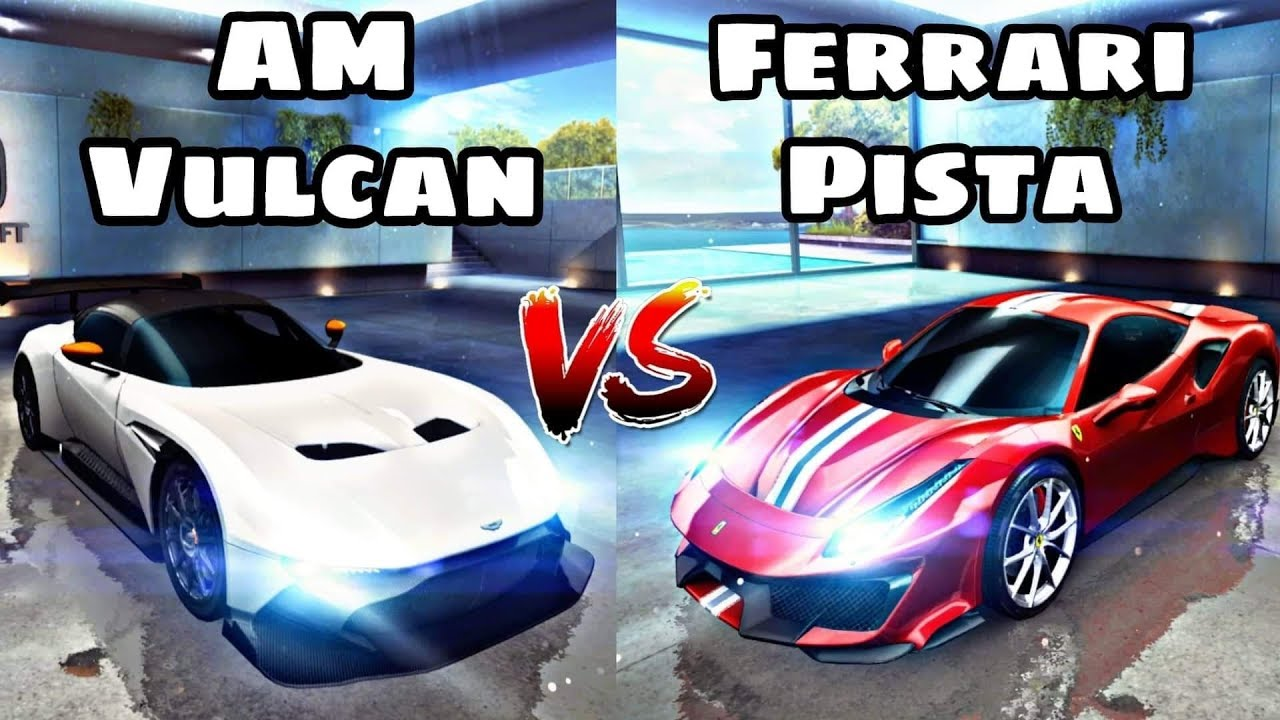 Ferrari 488 Pista Vs Aston Martin Vulcan Asphalt 8 Comparison