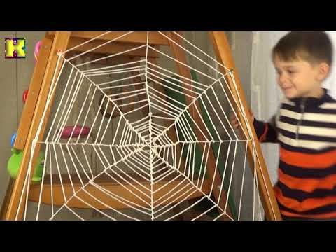 Как сплести паутину из ниток своими руками