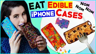 DIY Edible iPhone Cases! | EAT Your Phone Case! | How To Make The FIRST Eatable Phone Case! thumbnail