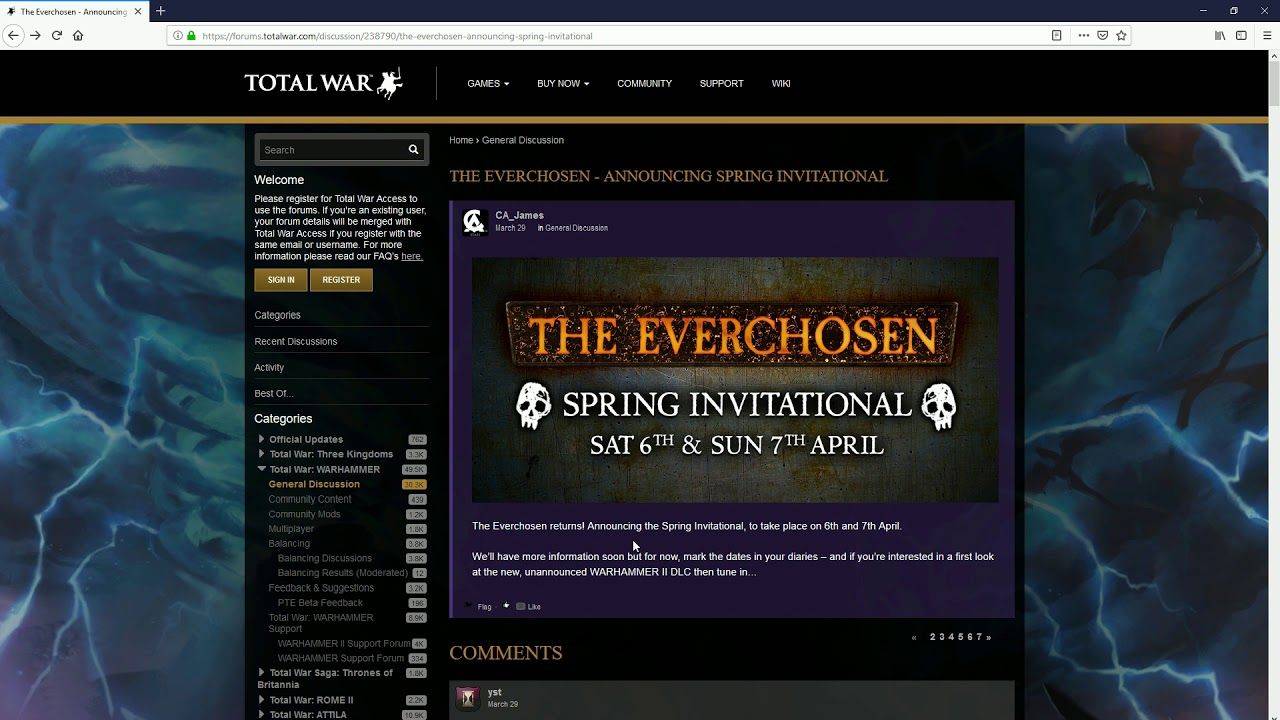 Everchosen Spring Tourny Announcement!