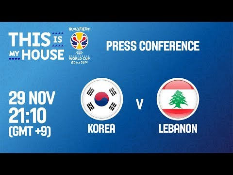 Korea v Lebanon - Press Conference - FIBA Basketball World Cup 2019 Asian Qualifiers