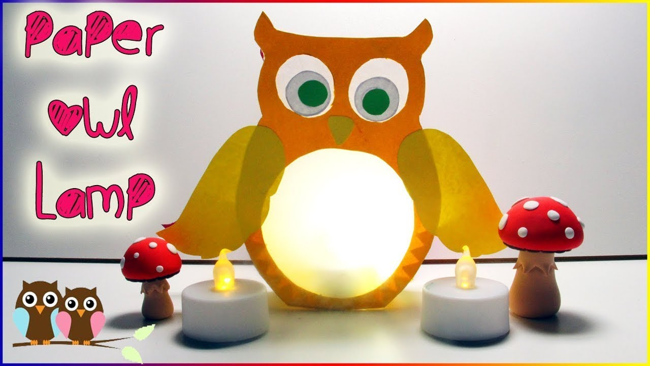 Paper Owl Lamp For Kids How To Make