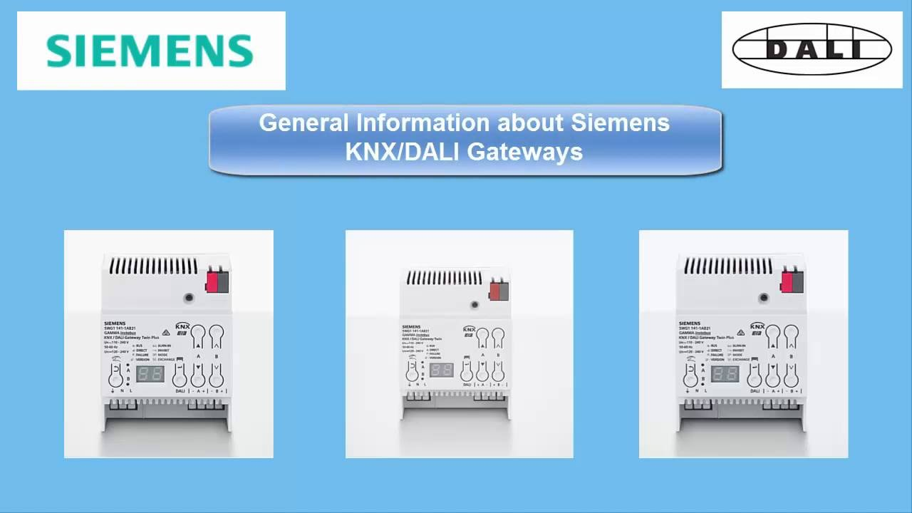 e learning siemens gamma instabus knx dali gateways. Black Bedroom Furniture Sets. Home Design Ideas