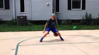 Amazing basketball skills from 11 year old girl