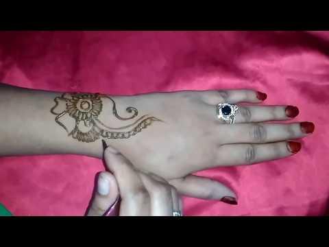 Indian Mehendi Design for hands - Sample 3