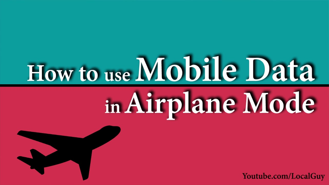 How to use/access mobile data internet in airplane mode | flight mode