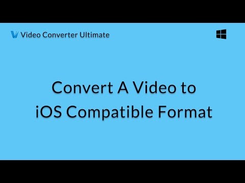 Wondershare Video Converter Ultimate: Convert A Video To IOS Compatible Format