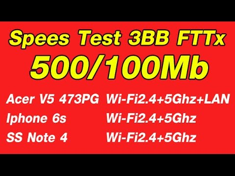 Test Speed 3BB Fttx 500/100Mb + Netgear R7000