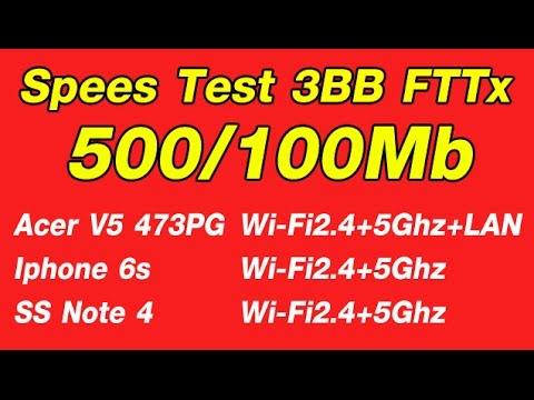 Test Speed 3BB Fttx 500/100Mb + Netgear R7000