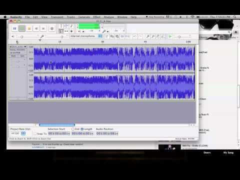 HOW TO CLEAN UP SONGS  in AUDACITY!!