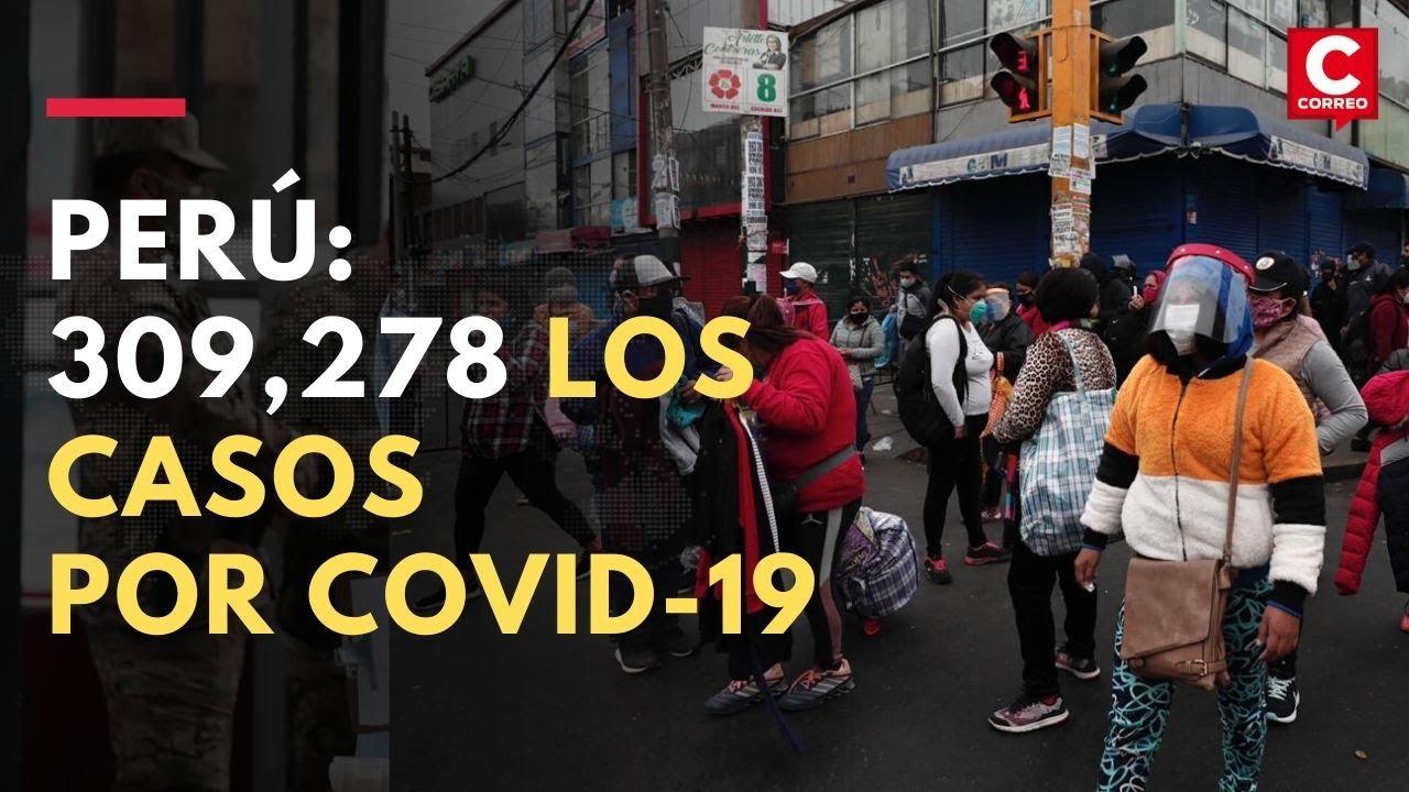 Coronavirus en Perú: Se eleva a 309,278 los contagiados y a 10,952 los fallecidos